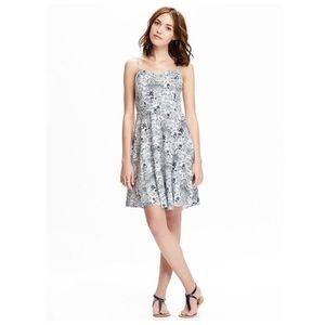 OLD NAVY Patterned Poplin Fit&Flare Cami Dress
